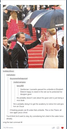 leo stop being such an awesome guy.