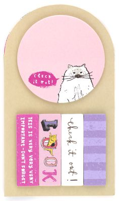 Reminder Kitty Sticky Note Set