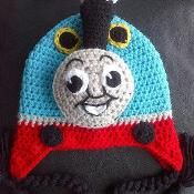 Crochet Choo Choo Hat Pattern - via @Craftsy Geweldig, toch misschien over een poos dit patroon maar kopen of..even uitpuzzelen hoe, zodat ik het voor Hidde kan haken