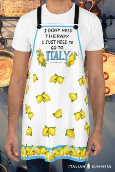 The perfect gift for you or someone you love. #Italy #gift-ideas #gift Italian Cooking, Italian Recipes, Italy Quotes, Italian Summer, Sorrento, Italian Fashion, Amalfi, Apron, Mamma Mia