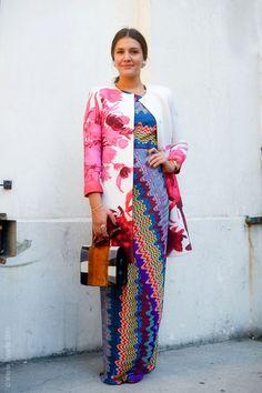 Margarita Missoni in mixed floral prints!