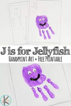 FREE Letter J Worksheets to help kids practice writing alphabet letters. Plus a fun letter j craft for toddler, preschool, kindergarten. Super cute hand art project for j is for jellyfish. Letter J Crafts, Alphabet Crafts, Alphabet Letters, Abc Crafts, Preschool Letters, Letter Activities, Preschool Crafts, Preschool Kindergarten, Free Homeschool Curriculum