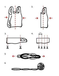How to make yarn out of plastic bags