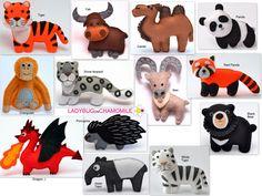 Asian animals, eurasia animals, yak, tiger, tapir, ibex, camel, panda, porcupine, snow leopard, orangutan