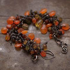 cornaline bracelet  bracelet  argent sterling 925  par ewalompe
