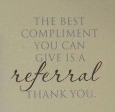 I love this. Word of mouth speaks volumes for a small business. Thanks to all my lovely ladies that are always sending me referrals. Check my site out at: www.flashinlashes.com
