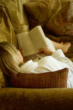 Me - curled up with a good book...