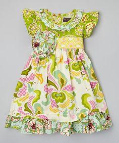 Mustard Pie Lemonade Floral Angel-Sleeve Dress - Infant, Toddler & Girls by Mustard Pie #zulily #zulilyfinds