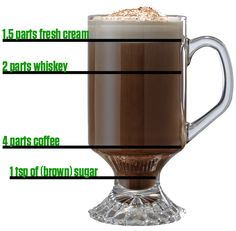 Getting it done on National Irish Coffee Day with some whiskey Who else? Irish Coffee, Coffee Cafe, Irish Whiskey, Hot Coffee, Beach Drinks, Fun Drinks, Beverages, Fresh Cream, Coffee Packaging