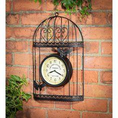 Birdcage Or Butterfly Wall Clock   Indoor/Outdoor