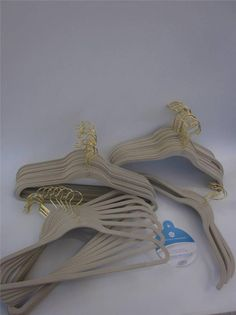 Hangers Joy Mangano Huggable 30-Pk~15 SUIT&15SHIRT/ BLOUSE HANGERS~LINEN~sku804 #JoyMangano