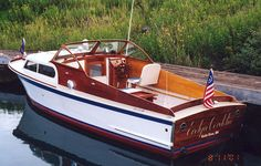 1947 Chris Craft Cabin Cruiser. Gorgeous!
