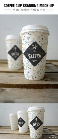 GraphicRiver - Coffee cup branding Mock-up