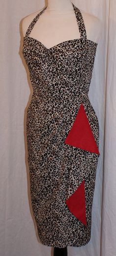 1950s vintage inspired leopard and lipstick red by OuterLimitz, £75.00