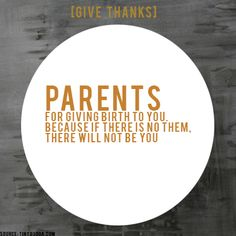 [GIVE THANKS] #ProjectBeautiful #blessings #Parents  www.projectbeautiful.net