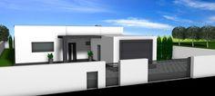 3D vizual stavby rodinného domu - Cinema4D