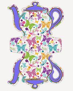 Mariposas: Caja Tetera Para Imprimir Gratis. | Ideas y material gratis para fiestas y celebraciones Oh My Fiesta!