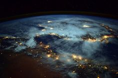 "Incredible photos from the International Space Station  ""Spiral of lights BURSTING from Earth! #Spain looks like it is floating away from #Africa"" #AstroButch (Photo & Caption: Terry W. Virts, NASA Astronaut)"