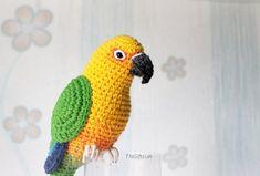 Plush Sun Jenday conure Yellow Crochet parrot toy sculpture   Etsy Parrot Pet, Parrot Toys, Crochet Parrot, Animal Fibres, Conure, Pet Loss, Memorial Gifts, Bird Toys, Pet Memorials