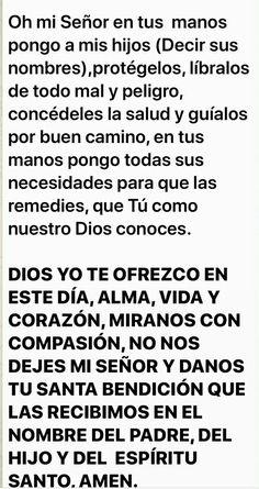 Prayer For My Son, Prayer For Family, God Prayer, Daily Prayer, Prayer Quotes, Faith Quotes, Catholic Prayer For Healing, Catholic Prayers In Spanish, Prayers For Healing