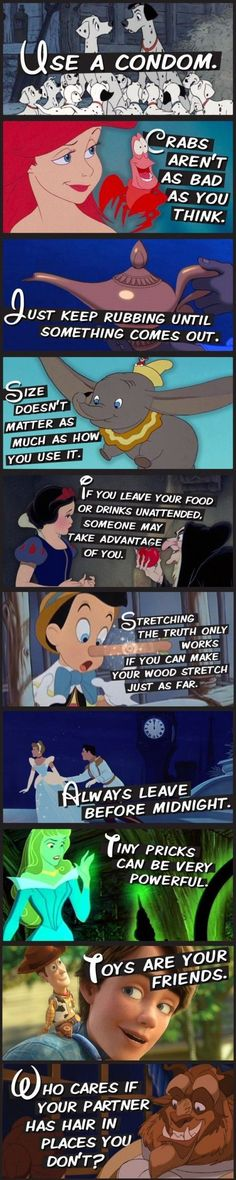 10 Sex Tips From Disney Characters #SoWrongTho *facepalms*