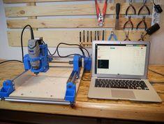 DIY Printed Dremel CNC : 21 Steps (with Pictures) - Instructables Arduino Cnc, Routeur Cnc, Diy Cnc Router, 3d Printer Designs, 3d Printer Projects, Cnc Projects, Physics Projects, Homemade Cnc, Diy 3d