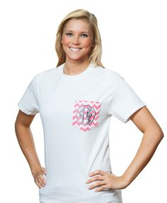Alpha Phi Chevron Frocket T-shirt.www.sassysorority.com