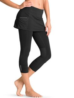 Acceleration 2 In 1 Capri - The lightweight run capri that has your back(side) covered in soft, wicking fabric and 360º reflective trim.