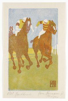 Wimpelkette - Farbholzschnitt - Neumann, Hans (1873-1957) - Finish