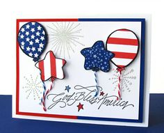 DeNami Celebration Balloons Card By Dana Curtis Seymour Happy 4 Of July
