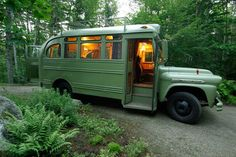 Living in a bus: a bunch of cool bus reno projects on this page!