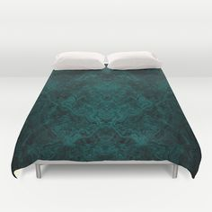 Into the Mist-ic Duvet Cover. Dark, smoky, aqua blues...smooth and swirly. Some might even say wispy