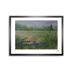 "Cyndi Steen ""Land That I Love"" Green Blue Framed Art Print from KESS InHouse"