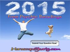 2015 Free Psychic Readings - Astrology readings can be a fun time for you to discover something unique about yourself. An astrologer can create for you an astrology chart that will give you a map of your life. An astrology psychic reader will be able to give you proper insight into your love, career or business future. An experienced astrologer will be able to tell you exactly what to expect for the upcoming year or upcoming few years. Astrology often entices people because of its amazing ability to predict the future... Learn More: http://www.horoscopeyearly.com/free-astrology-readings/