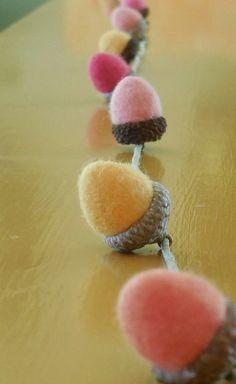 ADD ON ACORNS to felted acorn garland by SPRIGSfeltedflowers, $4.00