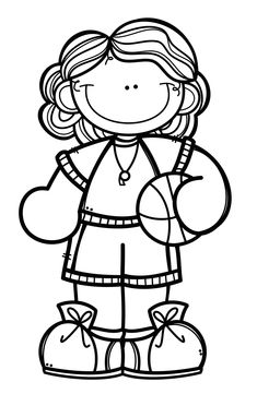 Kindergarten Activities, Preschool, Coloring Pages For Kids, Kids Coloring, Art Drawings, Drawing Art, Clipart Black And White, Binder Covers, Colouring Pages