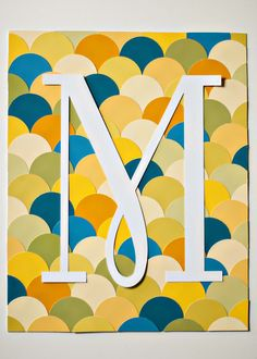 August 24, 2015: Monogrammed Paint Chip Artwork