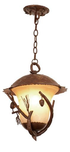 Make your patio look fabulous with this large hanging #lantern from #Ponderosa Outdoor Collection by #kalcolighting