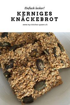 Leckeres und gesundes Knäckebrot Rezept. Jetzt ausprobieren! Kitchen Queen, Desserts, Food, Delicious Snacks, Healthy, Eten, Recipes, Tailgate Desserts, Deserts