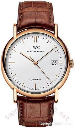 IWC Portofino Automatic 18kt Rose Gold Brown Mens Watch 3533-19