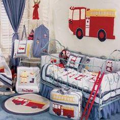 Firetruck Crib Bedding Crib Bedding For Boys - aBaby.Com