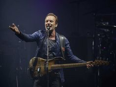 English musician Sting performs with Peter Gabriel, not pictured, at the Bell Centre in Montreal as part of their Rock Paper Scissors tour on Tuesday, July 5, 2016.
