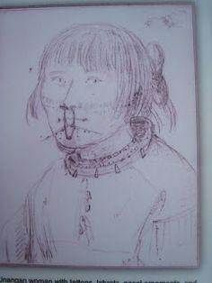 Traditional Aluet facial tattoos & jewellery