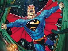 DC Universe - Superman - Visit to grab an amazing super hero shirt now on sale! Marvel Dc Comics, Marvel Vs, Superman Comic, Superman Stuff, Batman, Superman Artwork, Superman Family, Comic Books Art, Comic Art