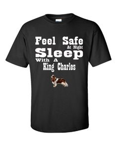 Feel Safe At Night Sleep With A King Charles - Unisex Tshirt – Cool Jerseys