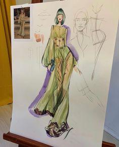 Fashion Design Sketchbook, Fashion Design Portfolio, Fashion Design Drawings, Fashion Sketches, Fashion Illustration Collage, Illustration Mode, Illustrations, Fashion Books, Fashion Art