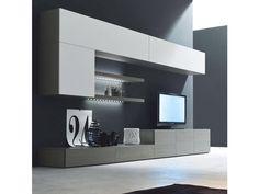Tv Wall Panel, Living Room Units, Tv Holder, Tv Credenza, Tv Wall Design, Bookshelves, New Homes, Interior Design, House