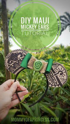 How to Make Mickey Ears Maui from Moana