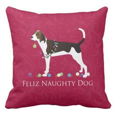 Treeing Walker Coonhound Christmas Pillow