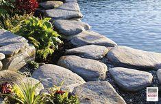 Schist Stone Alpine Garden Edge, Schist decoration, Schist Walling, Schist cladding, Premier Schist Stone Alpine Garden, Stone Supplier, Garden Edging, Auckland, New Zealand, Sustainability, Water, Outdoor, Gripe Water